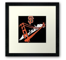 San Francisco Giants Stencil White Framed Print