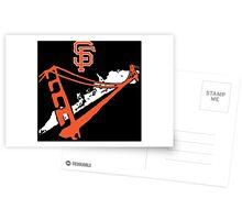 San Francisco Giants Stencil White Postcards