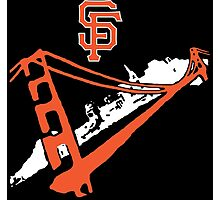 San Francisco Giants Stencil White Photographic Print