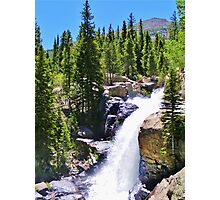 AWESOME ROCKY MOUNTAIN NATIONAL PARK WATERFALL Photographic Print