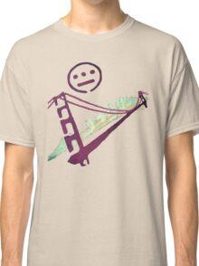 Stencil Golden Gate San Francisco Outline Classic T-Shirt