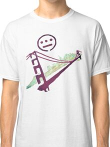 Stencil Golden Gate San Francisco Outline Classic T-Shirt