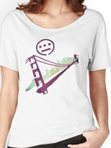 Stencil Golden Gate San Francisco Outline Women's Relaxed Fit T-Shirt