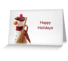 Snowman Wishes Greeting Card