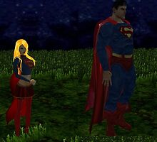 Super man and girl by LokiLaufeysen