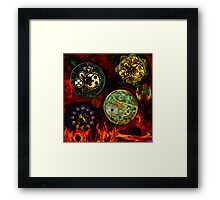"Marking Time ""Hidden secrets series. Framed Print"