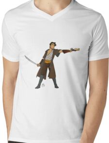 Lorcan Greyscale  Mens V-Neck T-Shirt