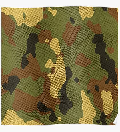 Cloth camouflage texture generated. Seamless pattern. Poster