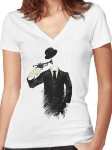 Blown Women's Fitted V-Neck T-Shirt