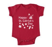 Funny St Patricks Day Cat Shirt - St Catricks Day One Piece - Short Sleeve
