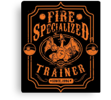 Fire Specialized Trainer II Canvas Print