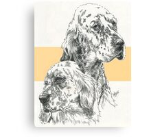 English Setter Father & Son Canvas Print