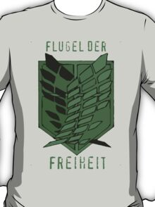 Flugel der Freiheit - Wings of Freedom in Emerald T-Shirt