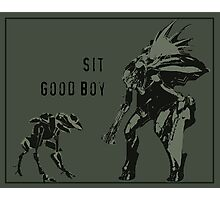 Sit.  Good Boy. Photographic Print