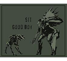 Sit.  Good Boy. Photographic Print