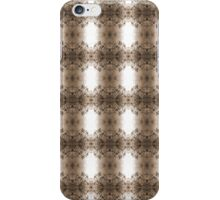 cherry blossoms in the sun, sepia pattern iPhone Case/Skin