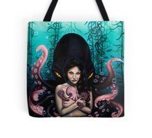 Woman with Baby Octopus and Tentacles Painting Tote Bag