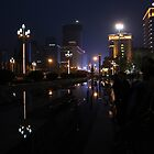 Tianfu Square By Night by v-something