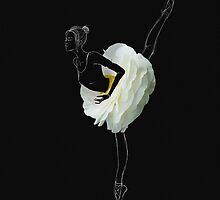 Ballerina in white flower skirt by Katharina13