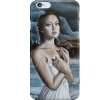 Girl in Frozen Lake with Ravens iPhone Case/Skin