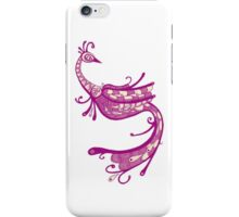 Purple Peacock Illustration iPhone Case/Skin
