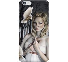 Girl with Doves in Forest iPhone Case/Skin