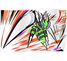 Shiny Mega Beedrill | Twineedle Poster