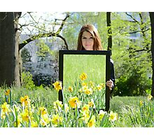 Daffodil Reflections - Spring 2014 NZ Photographic Print