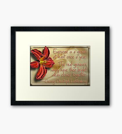 Genius Flower Framed Print