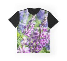 Field of Lupines Photography Print Graphic T-Shirt