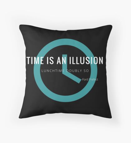 Lunchtime is an illusion Throw Pillow