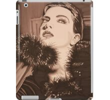 Lady In Fur -  Sepia iPad Case/Skin