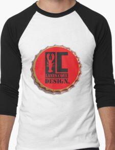 Lanes Cove Design bottle cap Men's Baseball ¾ T-Shirt