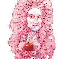Isaac Newton illustration by Damosart