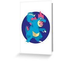 Feraligatr - 2nd Gen Greeting Card