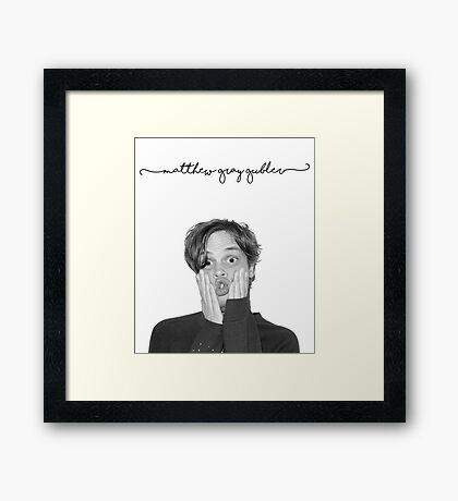 Matthew Gray Gubler. Framed Print