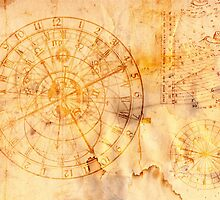 zodiac signs and astronomical clock by siloto