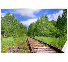 Summer. Forest. Railway Poster
