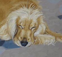 Sleeping Pet by HEARTartROOM