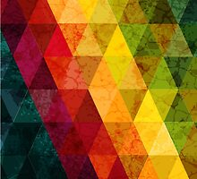 Colorful abstract geometric background with triangular polygons. by smotrivnebo