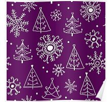 Merry Christmas pattern Poster