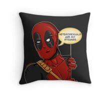 Deadpool studies nature  Throw Pillow