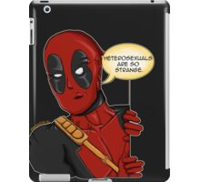 Deadpool studies nature  iPad Case/Skin