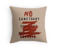 No Sanctuary Throw Pillow