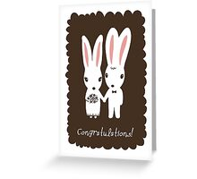 Bunnies Wedding Congratulations Greeting Card