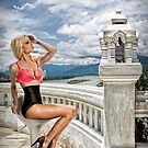 Danielle on the balcony overlooking the river . . . by Swede