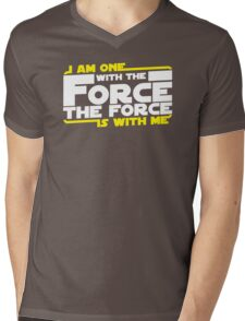 I am One With The Forc The Force Is With Me Mens V-Neck T-Shirt