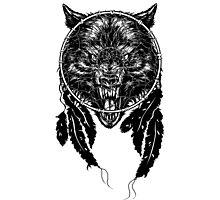 Dreamcatcher Wolf Photographic Print