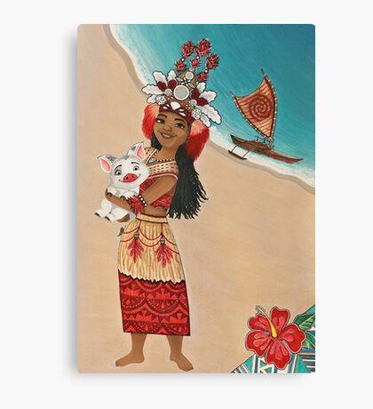 Hawaiian princess Canvas Print