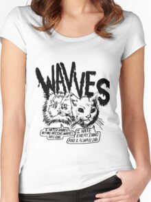 Wavves I Hated Wavves Before they were cool  Women's Fitted Scoop T-Shirt
